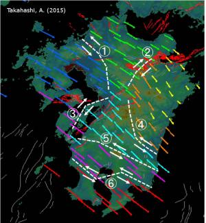 熊本地震:九州地方のGNSS速度場のクラスター解析