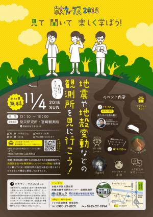 京大ウィークス2018 宮崎観測所施設見学・公開講座「見て・聞いて・楽しく学ぼう!」